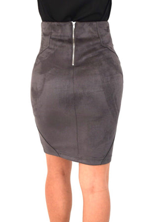 Kyrerne, Suede pencil skirt - Dimesi Boutique