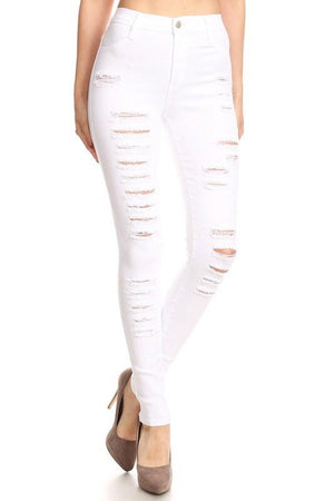 Tasha, High rise distressed  jeans