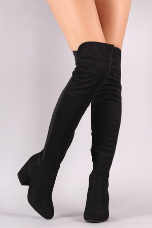 Thigh high black boots - Dimesi Boutique