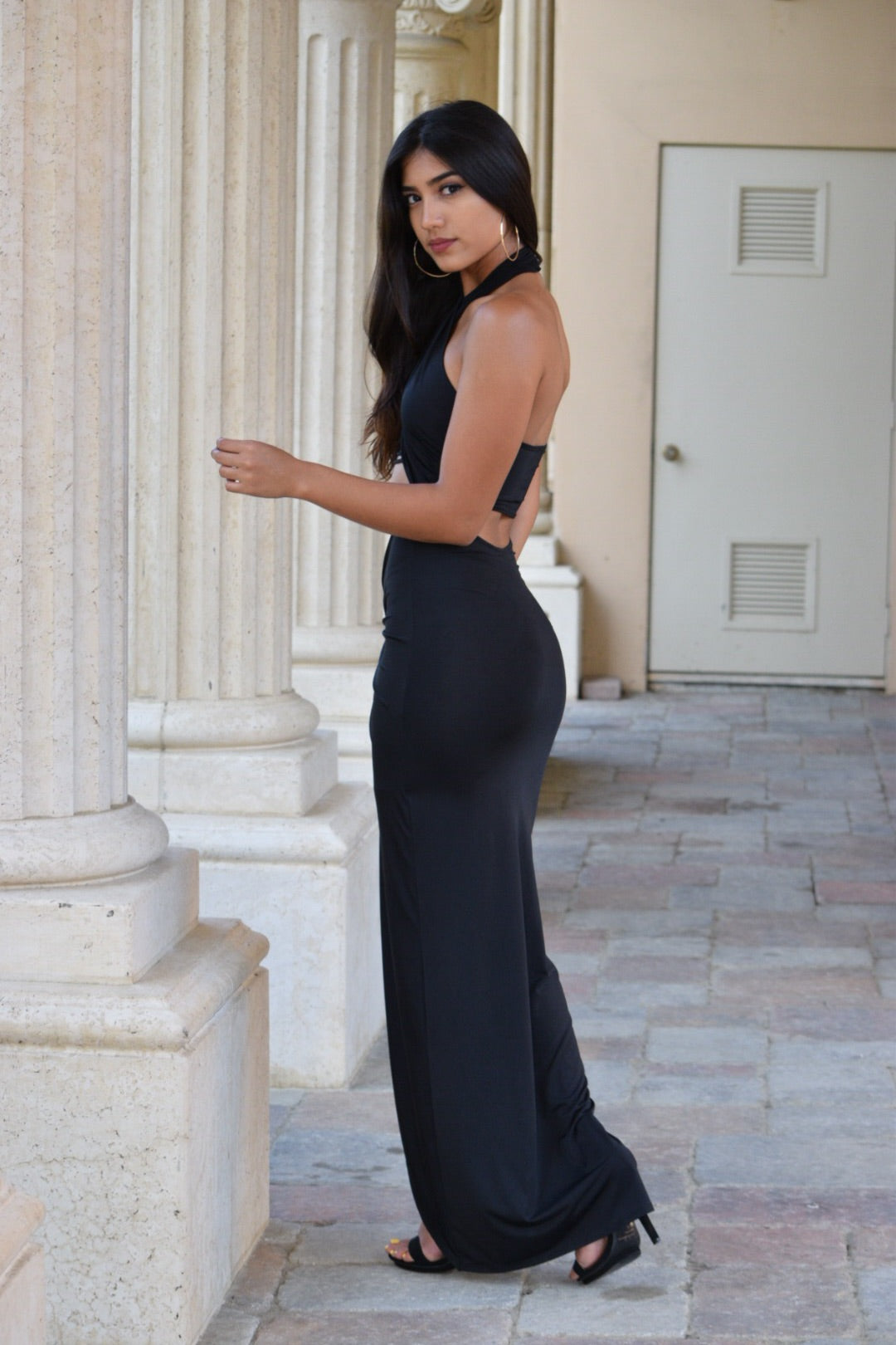 Tany Black Maxi Dress