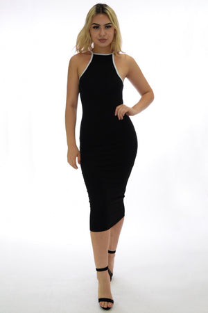Black casual midi dress - Dimesi Boutique