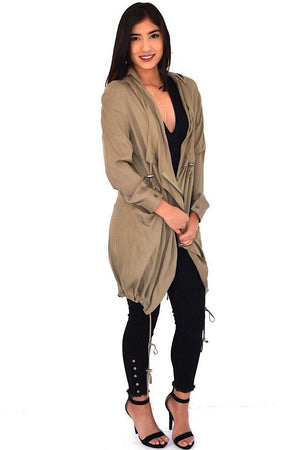 Emily, Long jacket with pocket - Dimesi Boutique