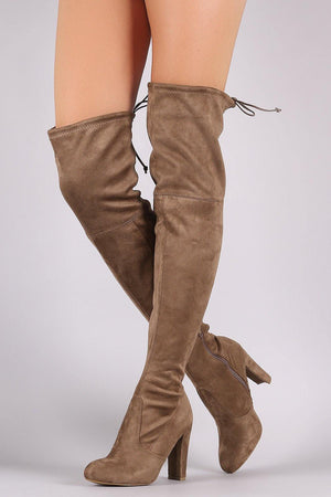 Amaya, Taupe Thigh High Boots