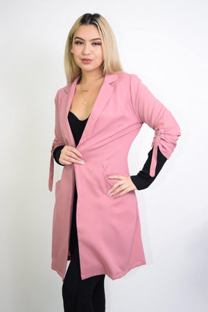 Priscilla, Long Sleeve Rose Coat