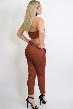 Vanessa, High waisted joggers with matching tube top