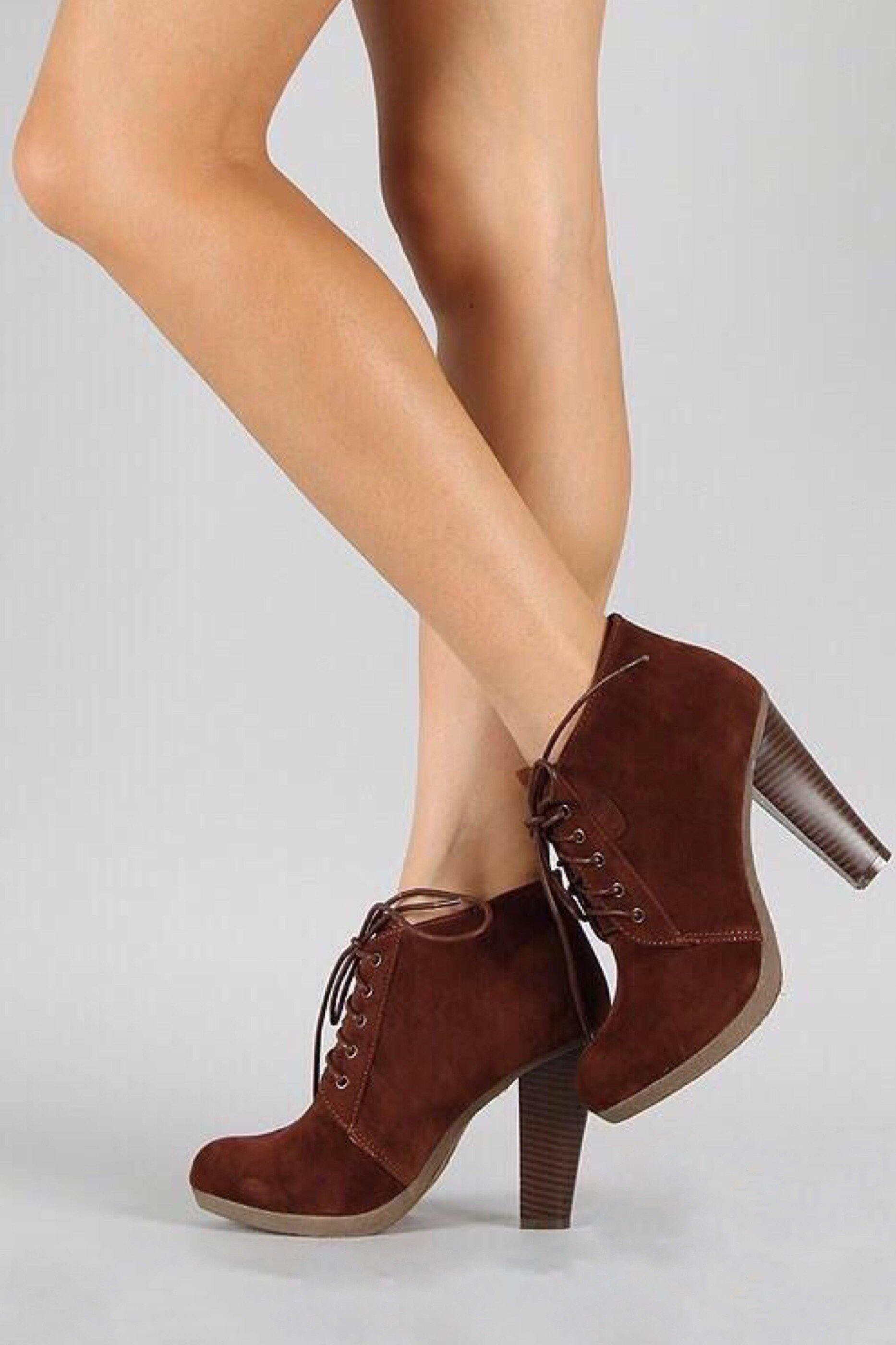 Otis tie up Ankle brown booties