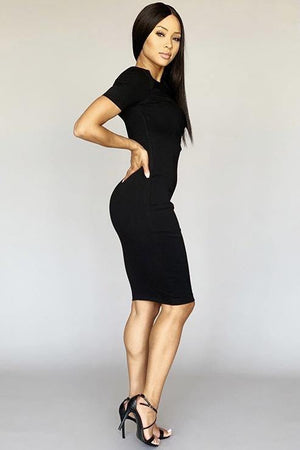 Short sleeve bodycon dress - Dimesi Boutique
