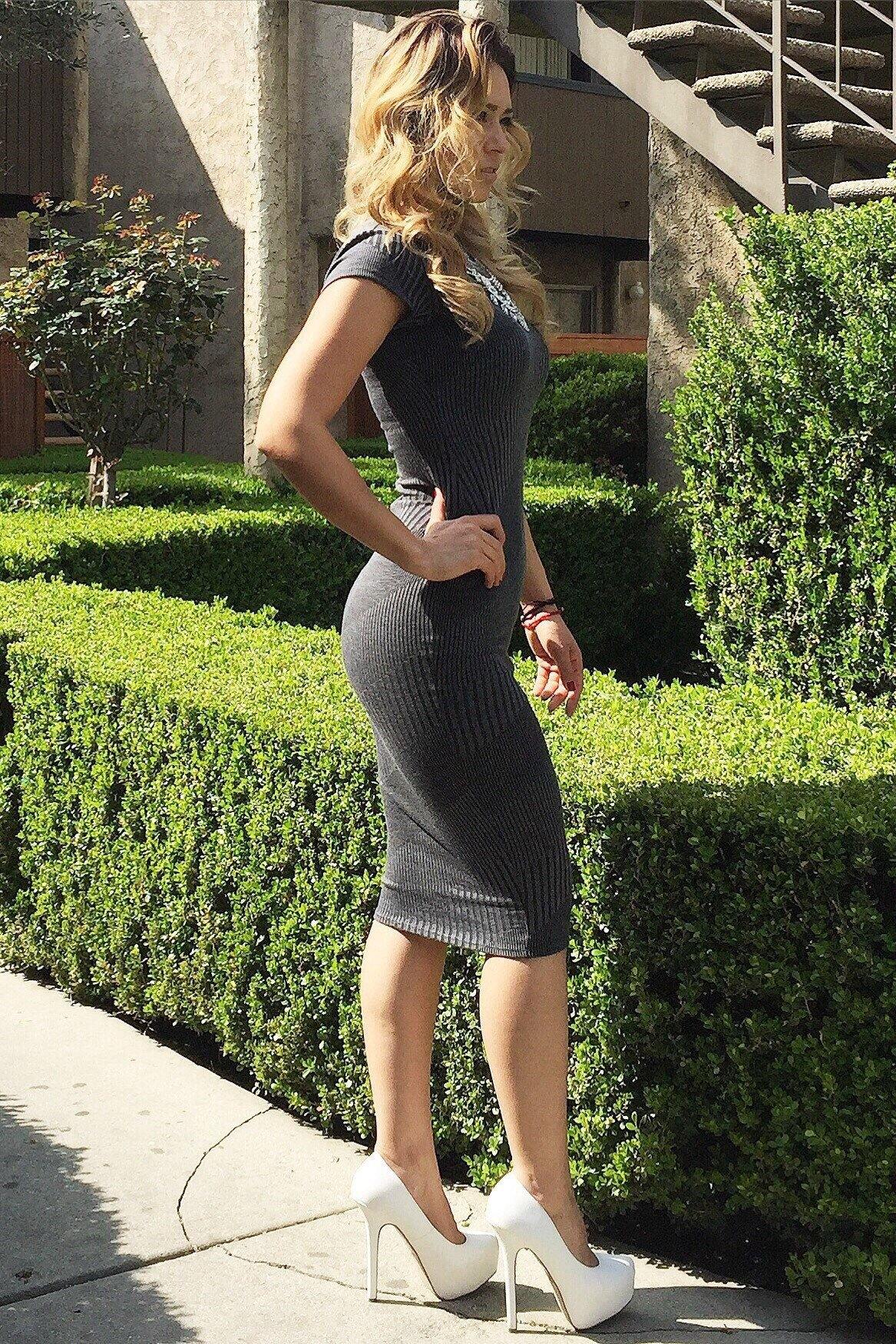 Carolina Bellow the knee Grey Dress