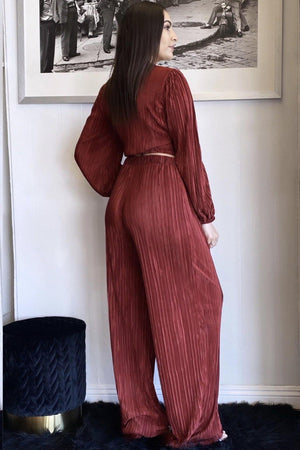 Natasha, Fashion Pleated Set - Dimesi Boutique