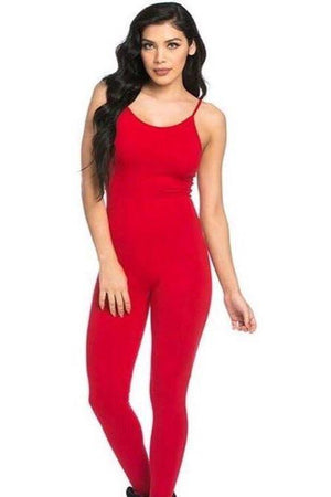 Red spaghetti strap Jumpsuit - Dimesi Boutique
