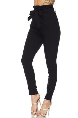 Penny, High Rise Black Pants