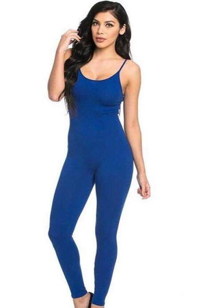 Royal blue spaghetti strap jumpsuit - Dimesi Boutique