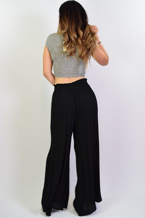 Samantha, wide leg flowy pants - Dimesi Boutique