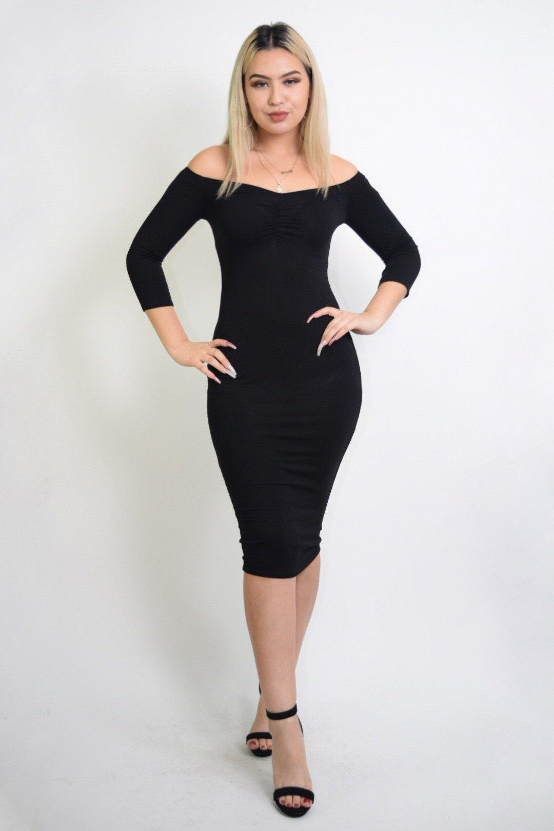 Sabrina Sweetheart Black Dress