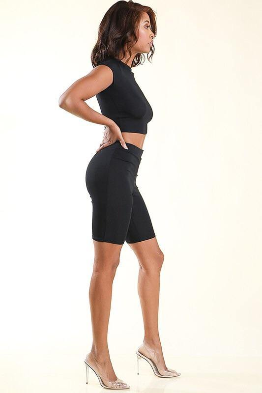 Jennifer Two Piece Black Set