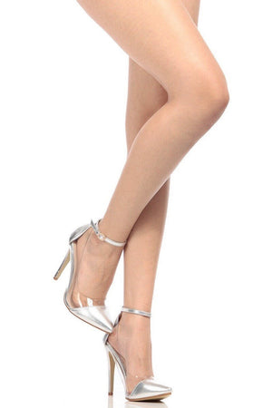 Pointed heels with clear side - Dimesi Boutique