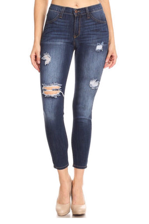 Leilani high rise blue Jeans - Dimesi Boutique