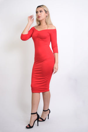 Sabrina Sweetheart Red Dress - Dimesi Boutique