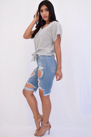 Stacey Denim Shorts - Dimesi Boutique