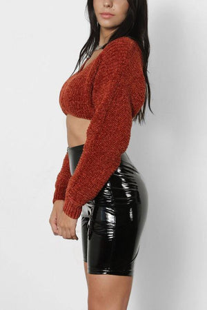 Cloe, Copper Cropped Sweater - Dimesi Boutique