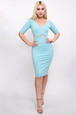 Light blue midi dress - Dimesi Boutique