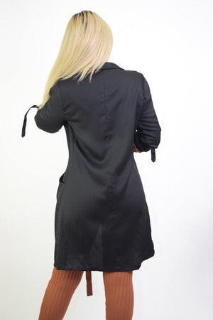 Priscilla, Long Sleeve Black Coat