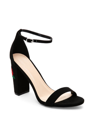 Morris, Black Chunky Heels with ankle strap - Dimesi Boutique