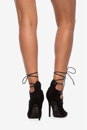 Brisa, Pointy heels with lace up - Dimesi Boutique