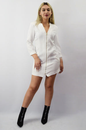 Trin, White blazer dress - Dimesi Boutique