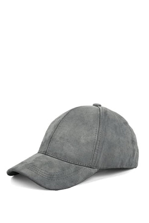 Suede ball hat - Dimesi Boutique
