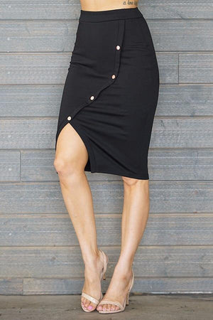 Laura, Black slit skirt - Dimesi Boutique