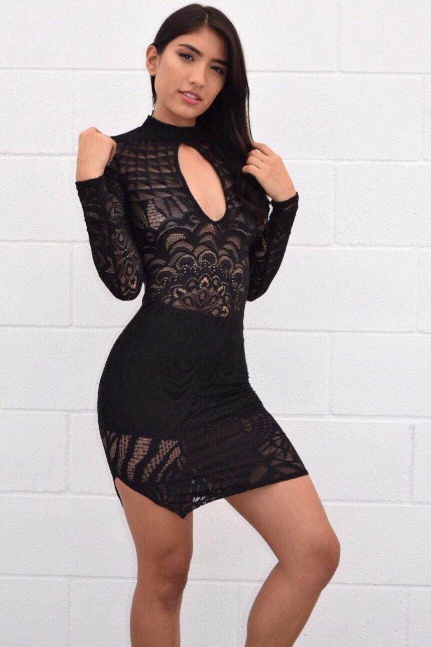 Abriana lace dress, that you can see through