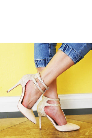 Bessy, Pointy heels with ankle strap - Dimesi Boutique