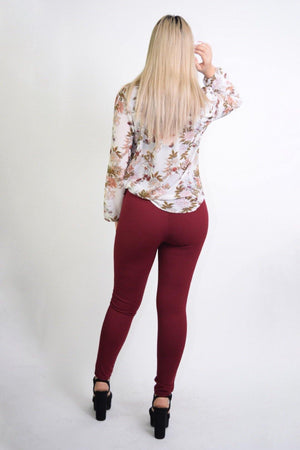 Long sleeve floral blouse - Dimesi Boutique