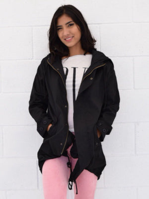 Elle, Black hooded jacket