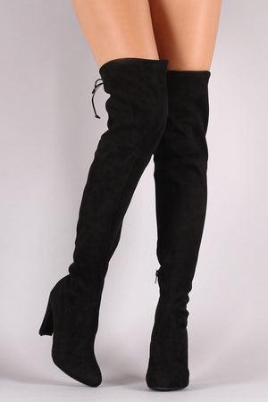 Thigh High Suede Black Boots - Dimesi Boutique