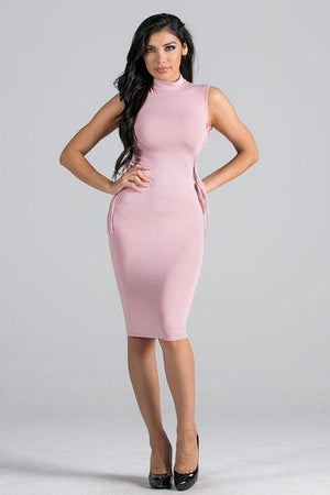 Marlene pink dress open on the sides - Dimesi Boutique