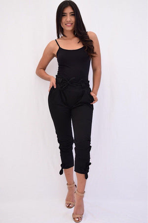Hayden, pants with legs and waist tie bow detail - Dimesi Boutique