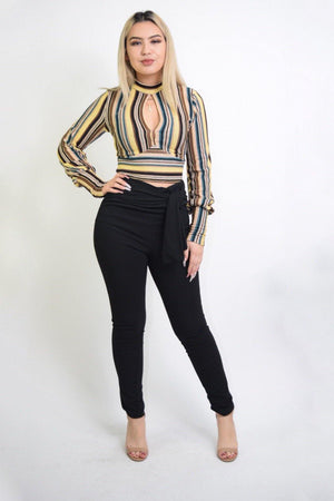 Jade Long Sleeve Mustard Blouse - Dimesi Boutique