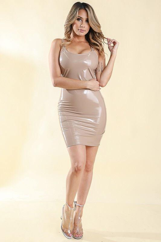 Beatriz Latex Nude Dress