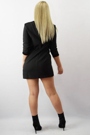 Trin, Black blazer dress - Dimesi Boutique