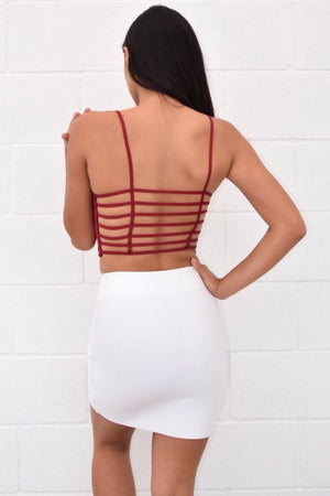 Open back spaghetti strap crop top - Dimesi Boutique