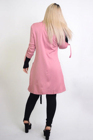 Priscilla, Long Sleeve Rose Coat - Dimesi Boutique
