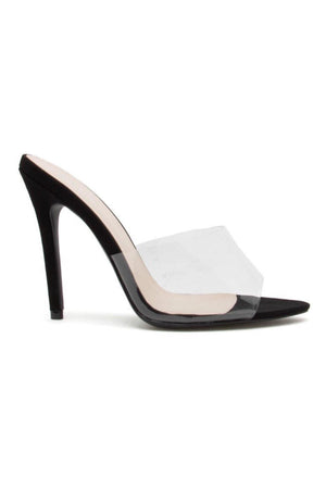 Frasier, One band slide clear heels