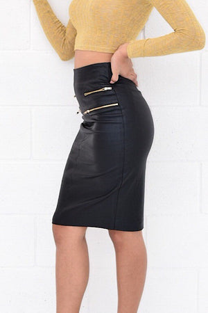 Adin, Black pencil skirt - Dimesi Boutique