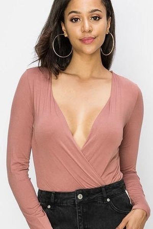 Kendall, Dusty Pink Bodysuit - Dimesi Boutique