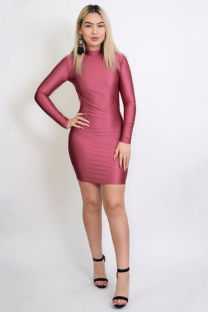 Stephi, Open Back Mauve Dress - Dimesi Boutique
