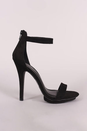 Ankle strap open toe heels - Dimesi Boutique
