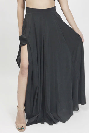 Nicole, long skirt with long slit - Dimesi Boutique