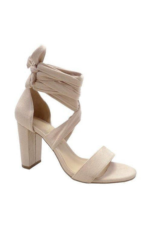 Morry, Open toe heels, with ankle tie - Dimesi Boutique
